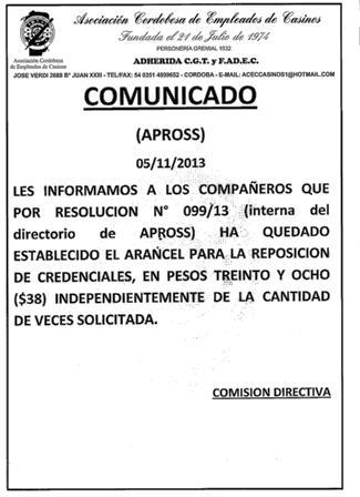 Comunicado Apross carnets 002